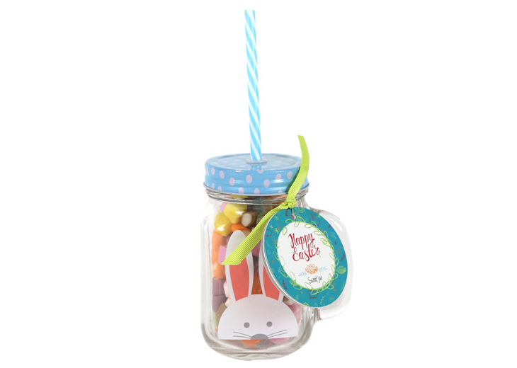 Easter gifts lovingly crafted by kimm miller our adorabunny easter bunny mason drinking jar and straw gift is ideal for kids the jar is filled with delicious retro dolly mixture perfect for an negle Gallery