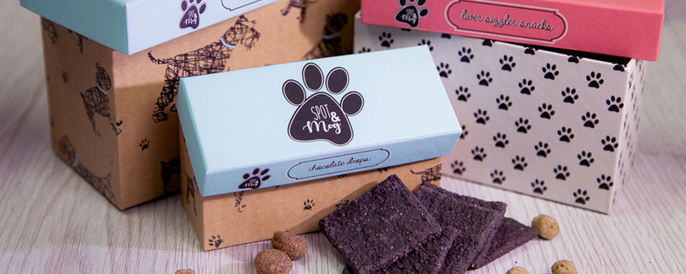Boxes of Spot & Mog chocolate drops and other treat gift boxes