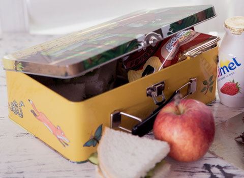 Gruffalo kid's lunch box and packed lunch