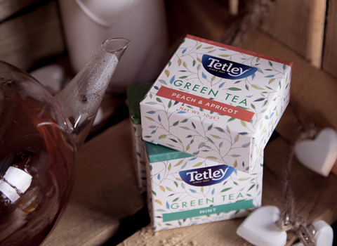 Tetley flavoured green tea gift boxes