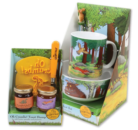 Gruffalo gift range packaging