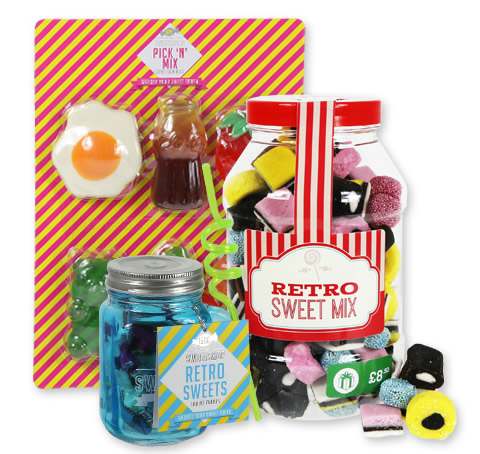 Retro Sweets gift range packaging
